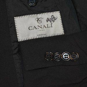 42S Canali 1934 Current Black HOPSACK Sport Coat